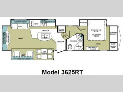 Floorplan - 2012 Forest River RV Cardinal 3625RT