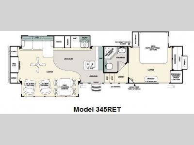 Floorplan - 2011 Forest River RV Sandpiper 345RET