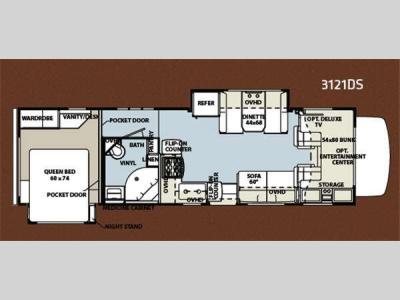 Floorplan - 2012 Forest River RV Forester 3121DS