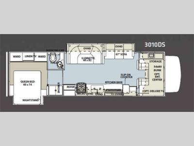 Floorplan - 2012 Forest River RV Sunseeker 3010DS