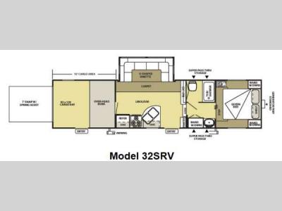 Floorplan - 2012 Forest River RV Salem Sport 32SRV