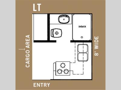 Floorplan - 2006 Forest River RV Work and Play 18 LT