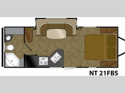 Floorplan - 2012 Heartland North Trail 21FBS