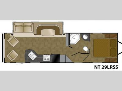 Floorplan - 2012 Heartland North Trail 29LRSS King