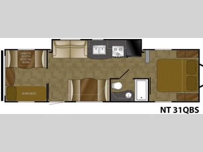 Floorplan - 2012 Heartland North Trail 31QBS