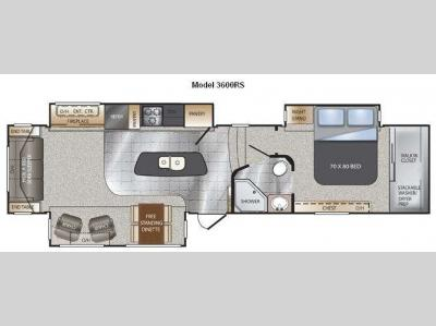 Floorplan - 2012 Keystone RV Alpine 3600RS