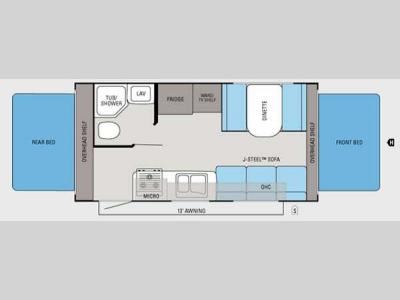 Floorplan - 2012 Jayco Jay Feather Ultra Lite X19H