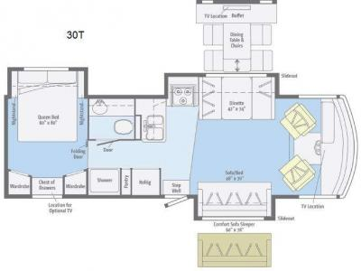 Floorplan - 2012 Winnebago Vista 30T