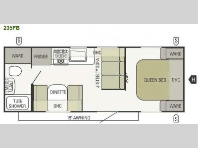 Floorplan - 2012 Starcraft  Autumn Ridge 235FB