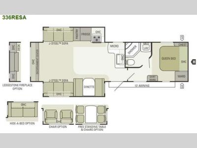 Floorplan - 2012 Starcraft  Autumn Ridge 336RESA