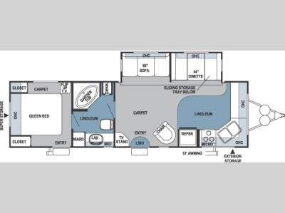Floorplan - 2006 Forest River RV Rockwood 8315SS