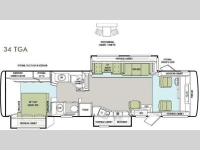 Floorplan - 2012 Tiffin Motorhomes Allegro 34 TGA