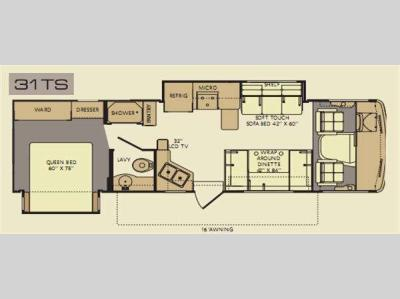 Floorplan - 2012 Fleetwood RV Terra 31TS