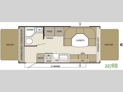 Floorplan - 2012 Starcraft  Travel Star 207RB