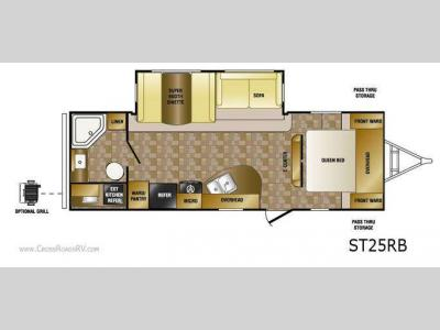 Floorplan - 2012 CrossRoads RV Sunset Trail ST25RB