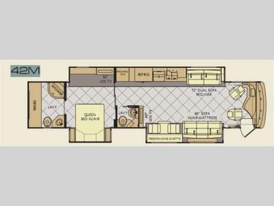 Floorplan - 2012 Fleetwood RV Discovery 42M