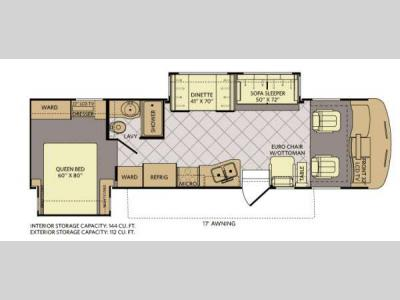 Floorplan - 2012 Fleetwood RV Southwind 32VS