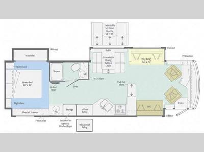 Floorplan - 2012 Winnebago Journey 36M