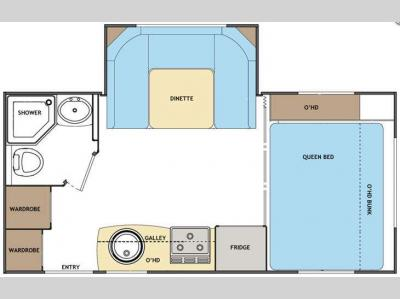 Floorplan - 2012 Lance Travel Trailers 1685
