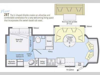 Floorplan - 2012 Winnebago Aspect 28T