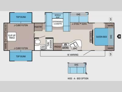 Floorplan - 2012 Jayco Jay Flight 32TSBH
