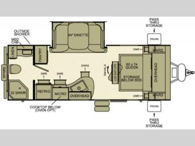 Floorplan - 2012 EverGreen RV i-Go G220RB