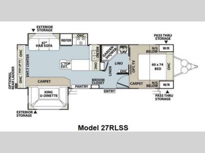 Floorplan - 2012 Forest River RV Flagstaff Super Lite 27RLSS