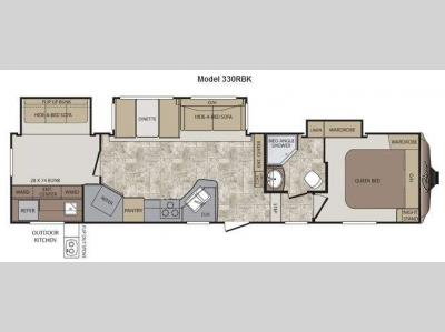 Floorplan - 2012 Keystone RV Cougar 330RBK