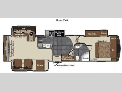 Floorplan - 2012 Keystone RV Vizion 3544