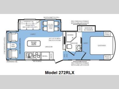 Floorplan - 2012 Forest River RV Wildcat extraLite 272RLX