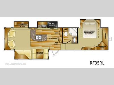 Floorplan - 2012 CrossRoads RV Rushmore RF35RL