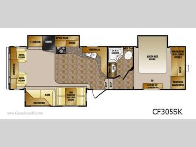 Floorplan - 2012 CrossRoads RV Cruiser Patriot  Provincial CF305SK