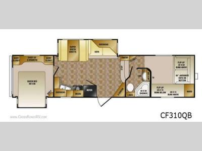 Floorplan - 2012 CrossRoads RV Cruiser Sahara CF310QB