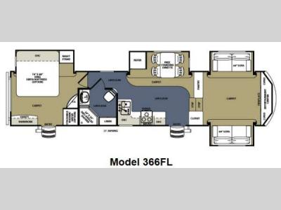 Floorplan - 2012 Forest River RV Sierra 366FL