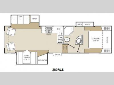 Floorplan - 2012 Coachmen RV Chaparral Lite 280RLS