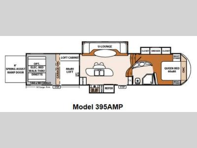 Floorplan - 2012 Forest River RV XLR Thunderbolt 395AMP