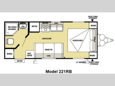 Floorplan - 2012 Forest River RV Salem Cruise Lite 221RBXL