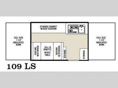 Floorplan - 2012 Coachmen RV Clipper Camping Trailers 109 LS