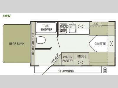 Floorplan - 2012 Starcraft  Launch 15FD