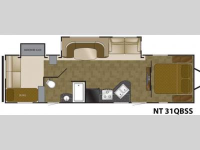 Floorplan - 2013 Heartland North Trail 31QBSS King