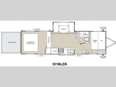 Floorplan - 2012 Coachmen RV Freedom Express 301BLDS