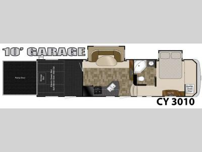 Floorplan - 2013 Heartland Cyclone 3010