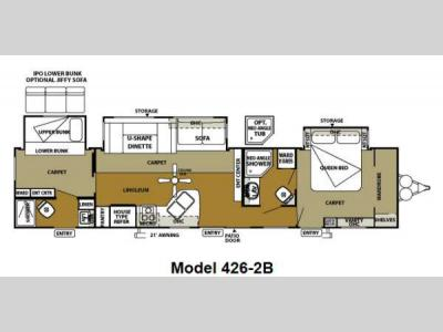 Floorplan - 2013 Forest River RV Wildwood DLX 426-2B