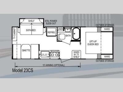 Floorplan - 2013 Skyline Koala 23CS