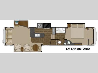Floorplan - 2013 Heartland Landmark San Antonio