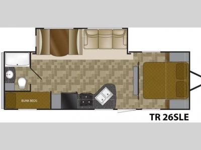 Floorplan - 2012 Heartland Trail Runner 26 SLE SLT