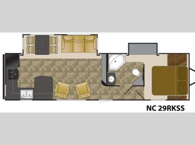 Floorplan - 2013 Heartland North Country Lakeside SLT 29RKSS SLT