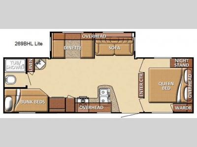 Floorplan - 2013 Gulf Stream RV Conquest 269BHL Lite