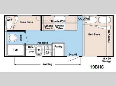Floorplan - 2013 Gulf Stream RV Conquest Lite 19BHC