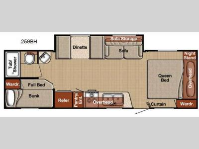 Floorplan - 2013 Gulf Stream RV Conquest Lite 259BH